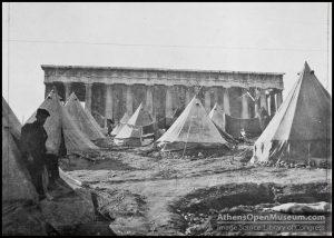 Καταυλισμός προσφύγων στο Θησείο το 1922