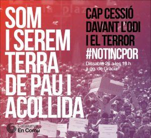 Manifestació #NoTincPor