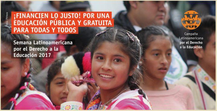 Arranca la Semana Latinoamericana por el Derecho a la Educación. ¡Participe!