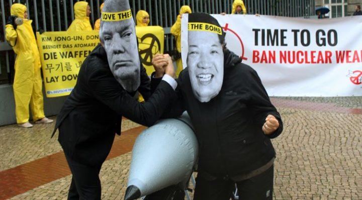 Protest vor Botschaften Nordkoreas und der USA