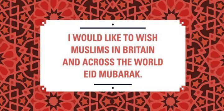 Jeremy Corbyn wishes Eid Mubarak to the Muslims
