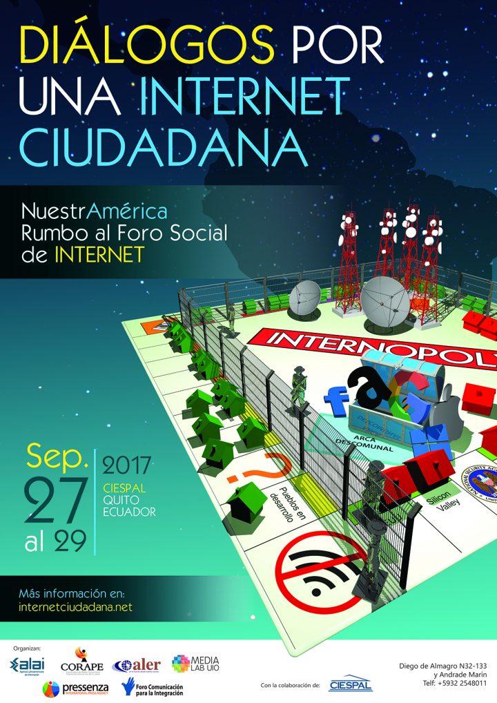 Convocatoria a los Diálogos por una Internet ciudadana
