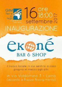 Ekoné bar&shop a Luino: commercio equo e solidale, prodotti biologici e incontri culturali