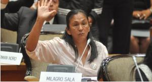 """Milagro Sala, diputada electa del Parlasur: """"Los argentinos están muy consternados por lo que pasó con Santiago"""""""