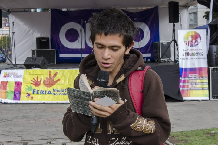 6th Nonviolent Initiatives Fair in Quito, Ecuador.