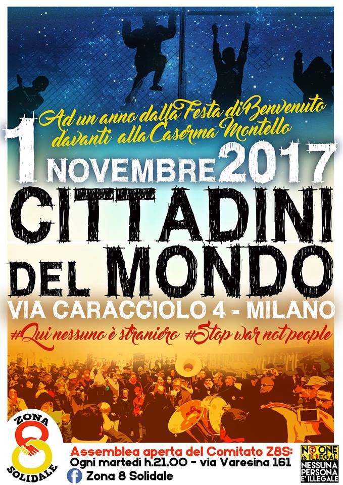 1° novembre 2017 – Cittadini del Mondo, festa a Milano