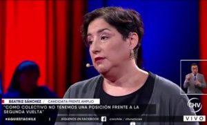 5 frases que marcaron el paso de Beatriz Sánchez por Aquí Está Chile