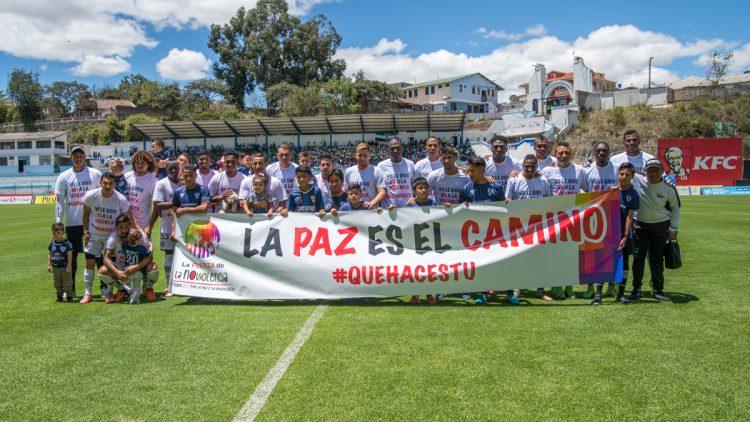 Fútbol y goles: fiesta por la no-violencia activa en Rumiñahui