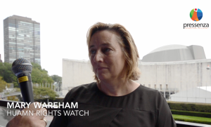Interview with Mary Wareham at the Humanitarian Disarmament Forum