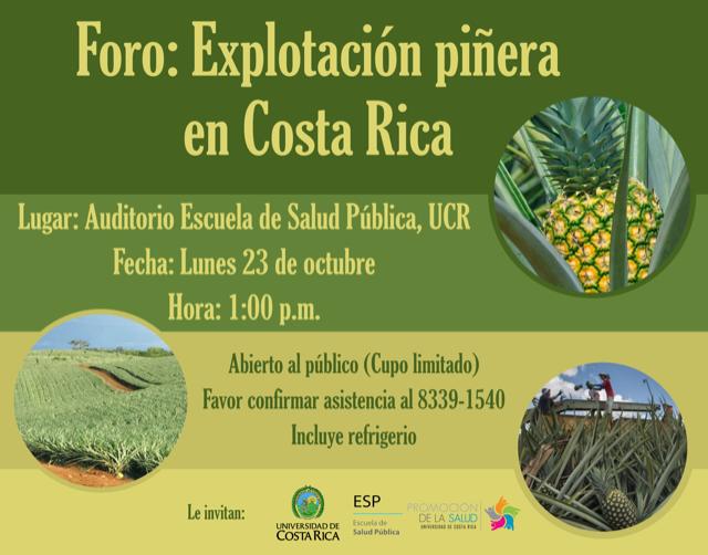 A propósito de un reciente foro sobre la expansión piñera en Costa Rica