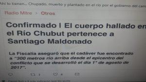 Santiago Maldonado: trovato corpo a Cushamen