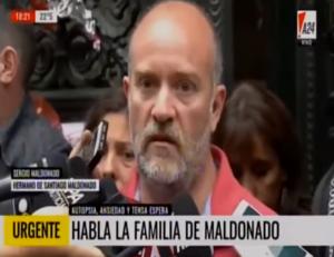 """Sergio Maldonado: """"Es Santiago, lo reconocimos por los tatuajes"""""""