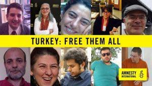 Turchia, rilasciati su cauzione otto difensori dei diritti umani ma il presidente di Amnesty International rimane in carcere