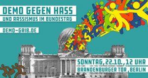 Demonstration gegen Hass und Rassismus in Berlin am Sonntag
