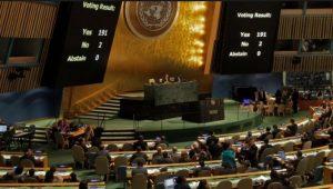 [Cuba] Vote à l'ONU sur la levée du blocus, 191 votes pour – 2 votes contre