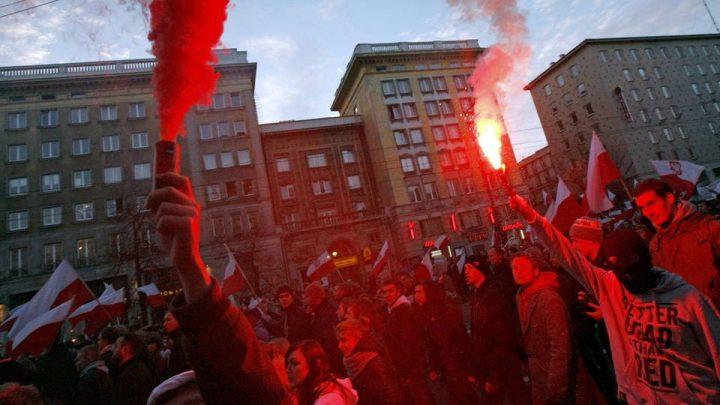 Manifestación xenófoba congrega 60 mil personas en Polonia