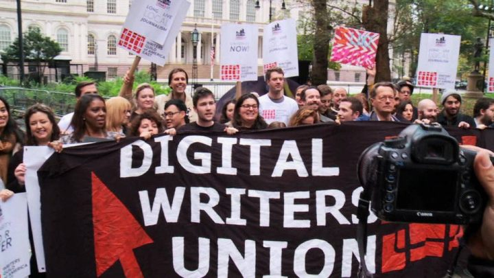 100+ Rally to Support Gothamist Journalists Fired for Unionizing