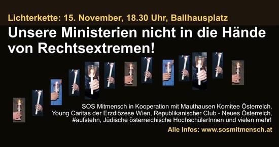 Lichterkette am 15. November als Signal an die österreichische Politik