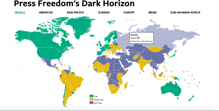 Libertà di stampa mai così in declino (anche nelle democrazie)
