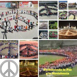 Symboles humains de la Paix et la Nonviolence dans les écoles et centres sportifs