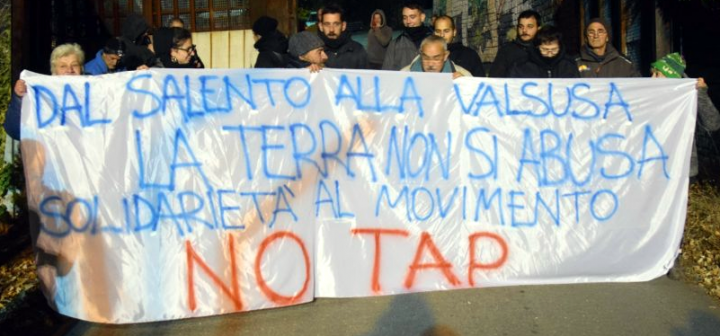 Dalla Valle di Susa solidarietà al Movimento No TAP