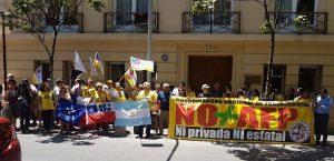 Solidaridad con los manifestantes reprimidos en Argentina