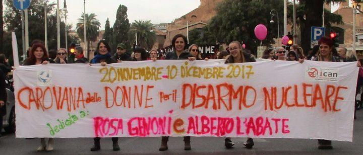 La carovana delle donne in dirittura di arrivo a Roma