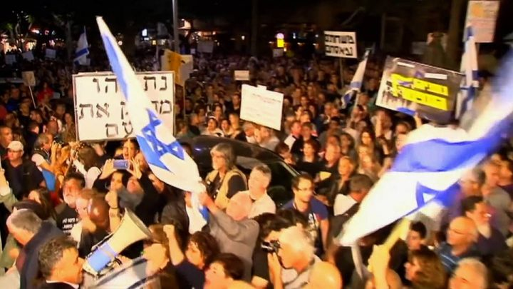 Israel: Tens of Thousands March Against Prime Minister Netanyahu