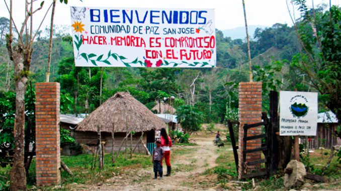 Colombia: Giovedì 11 a Modena la testimonianza di due leader della Comunità di pace di San José de Apartadó