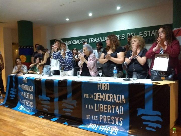Lanzamiento del Foro por la Democracia y la Libertad de los Presxs Políticxs
