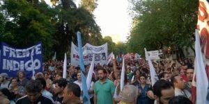 Marcha en Mendoza: «Nos van a seguir viendo en la calle»