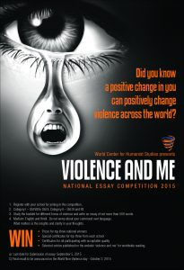 respecting personal and cultural diversity national  in 2015 it launched an essay competition on the theme violence and me highlights can be found at violenceandme org