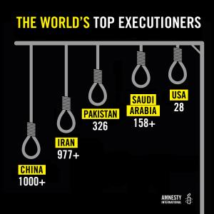 Amnesty protesta per l'impiccagione in Iran di un condannato minorenne all'epoca del reato