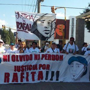 Marcha a dos meses del asesinato de Rafael Nahuel