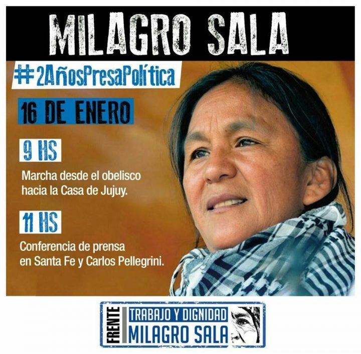 Zwei Jahre willkürliche Inhaftierung: offener Brief von Milagro Sala