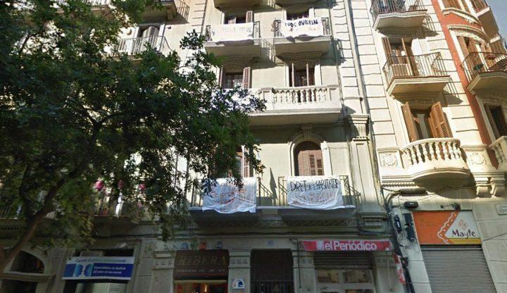 Vecinos y vecinas de Barcelona en defensa de su hogar