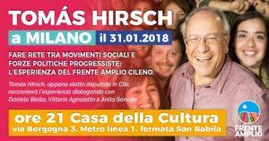 Tomàs Hirsch a Milano: l'esperienza del Frente Amplio cileno