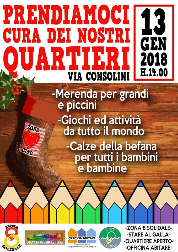 Milano, 13 gennaio: Prendiamoci cura dei nostri quartieri!
