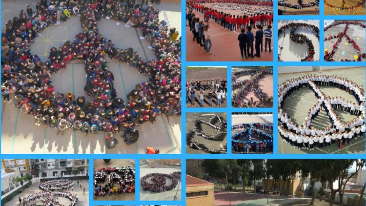 2018 30-enero Simbolos Humanos80 Colegios25.000 Alumnos