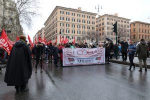 Roma, corteo Cobas contro il Job Act