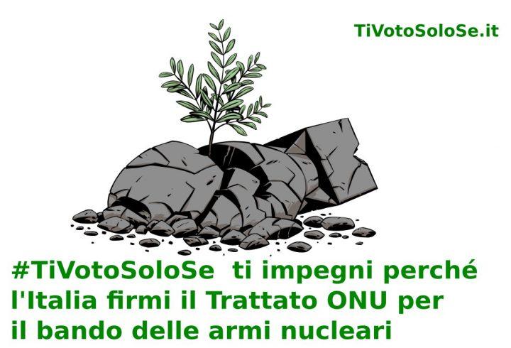 #TiVotoSoloSe: campagna perché l'Italia firmi il trattato ONU per il bando delle armi nucleari