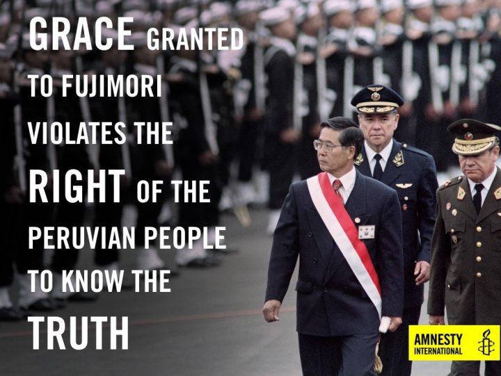 Fujimori, la grazia non si applicherà al massacro di Pativilca