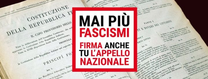 «Mai più fascismi», sabato 24 in corteo a Roma