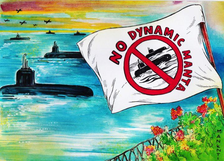 No all'esercitazione di guerra Nato Dynamic Manta