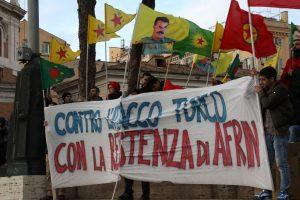 Afrin sotto assedio, manifestazione a Roma