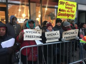Refusing to freeze, NYC public housing residents demand bold action from mayor