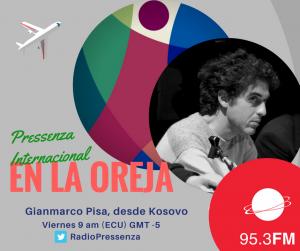 """Gianmarco Pisa a Pressenza En La Oreja: il Kosovo, il Paese più """"giovane"""" d'Europa"""