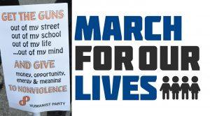 Gli umanisti appoggiano gli studenti e la March For Our Lives
