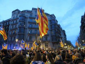 Gran movilización en Cataluña