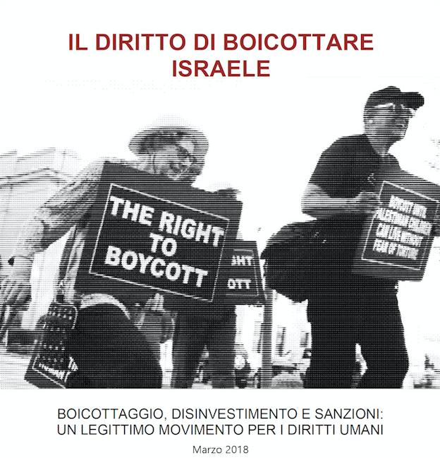 """Roma, presentazione dossier """"Il diritto di boicottare Israele – BDS: """"un legittimo movimento per i diritti umani"""""""